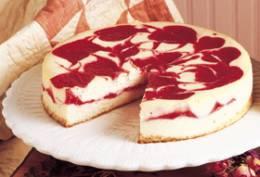 Cherry Swirled Cheesecake | DianasDesserts.com