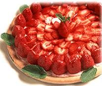 Strawberry Dessert Pizza | DianasDesserts.com